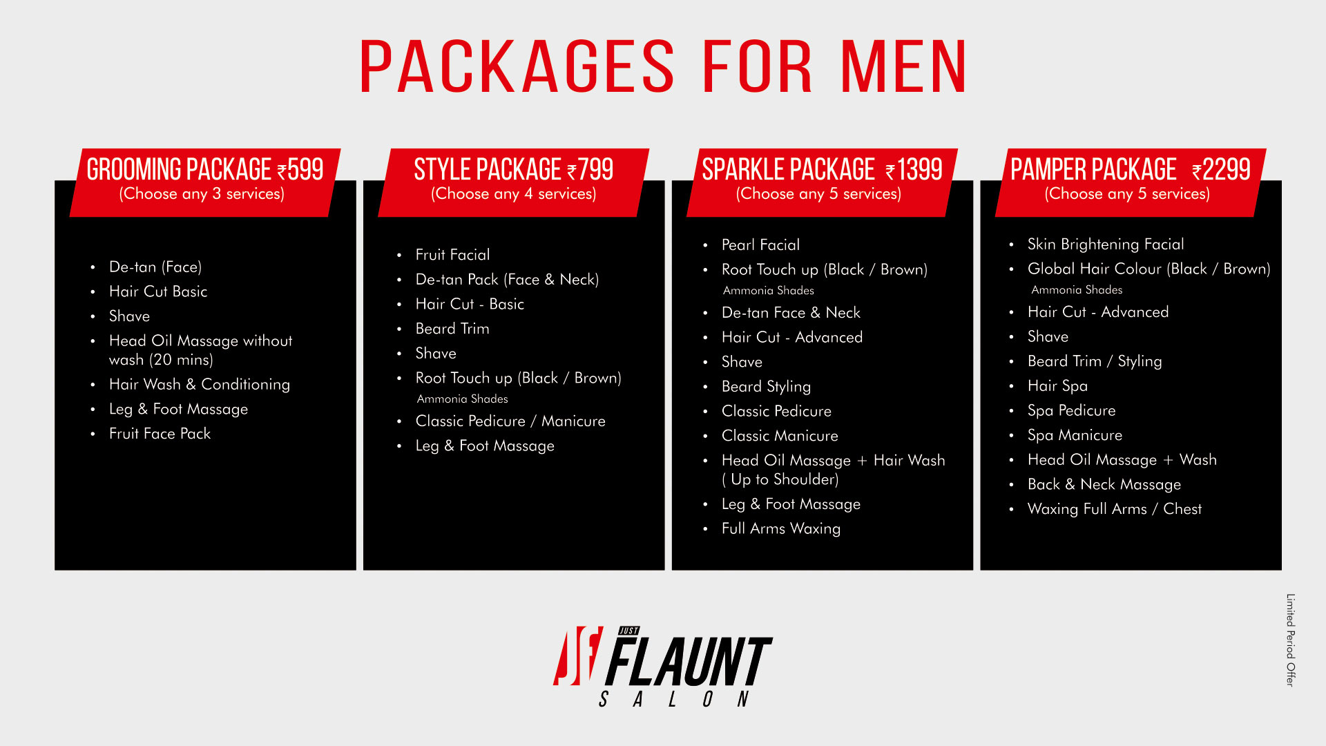 Mens Salon Packages, Best Salon Deals, Just Flaunt Salon